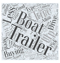 Buying a boat trailer word cloud concept vector