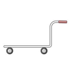 Cargo cart icon cartoon style vector