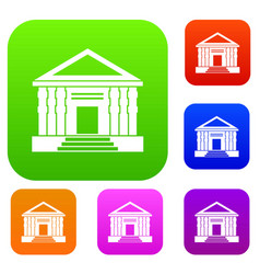 colonnade set collection vector image