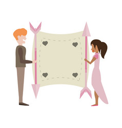 Couple love card romance image vector