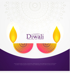 creative diwali celebration poster festival vector image