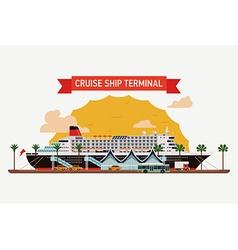 Cruise Ship at a Terminal vector image vector image