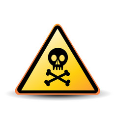 danger sign with skull symbol vector image vector image