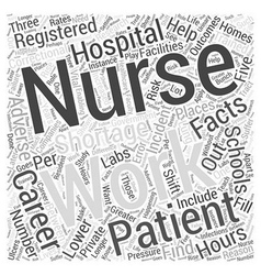 Facts about a Career in Nursing Word Cloud Concept vector image vector image