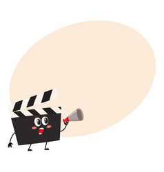 Funny cinema production clapper board clapboard vector