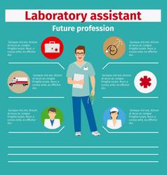 Future profession laboratory assistant infographic vector