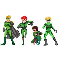 Green heroes vector image
