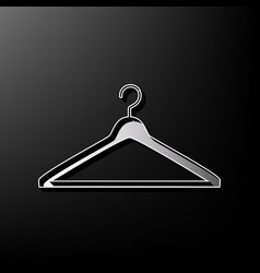 Hanger sign gray 3d printed vector