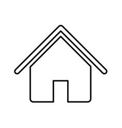 House with roof and door icon vector