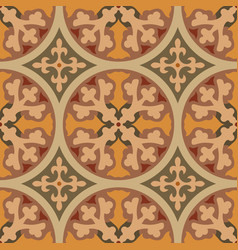 Hydraulic vintage cement tiles vector