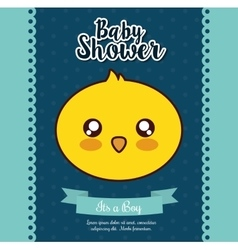 Kawaii duck baby shower design graphic vector