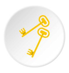 Keys icon circle vector