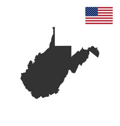 map of the us state of west virginia vector image