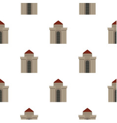 Medieval building pattern seamless vector