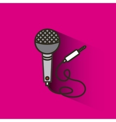 microphone with cord icon vector image