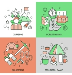 Mountain Climbing Linear Compositions vector image vector image