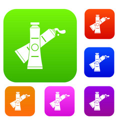 oil paints set color collection vector image