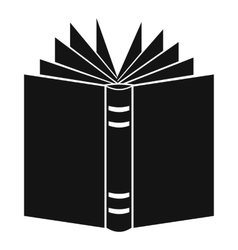 Open thick book icon simple style vector