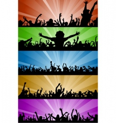 party people with lighting vector image vector image