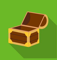 pirate wooden chest icon in flat style isolated on vector image
