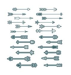 retro arrows set vector image vector image