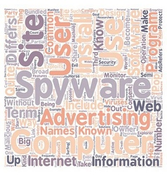 Spyware know your enemy text background wordcloud vector
