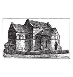 St aldhelms church bradford-on-avon vintage vector