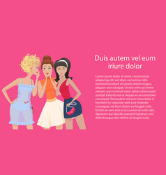 three women gossips standing and talking vector image