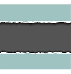 Torn paper frame for text tear cardboard vector