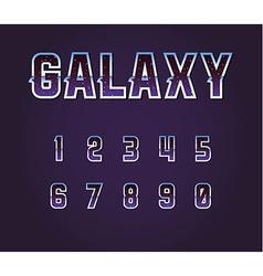 Universe 80s retro sci-fi font alphabet vector