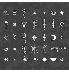 The mystical signs and symbols black vector