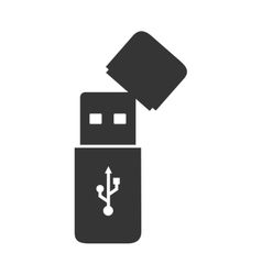 Usb connected backup design vector