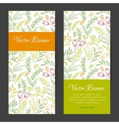 Vertical banners cards invitations set vector