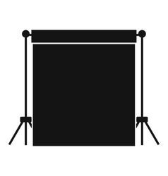 Studio backdrop icon simple style vector