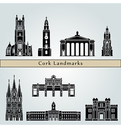 Cork landmarks and monuments vector