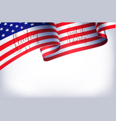 abstract empty background with american flag vector image