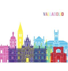 Valladolid skyline pop vector