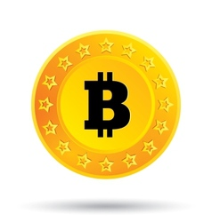 Bitcoin icon cryptography currency p2p vector