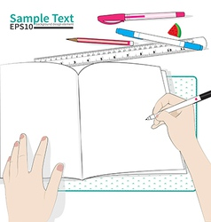 Write paper vector
