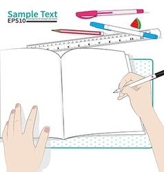 write paper vector image