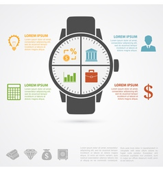 hand clock infographic vector image