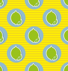 Limes pattern seamless texture with ripe limes vector