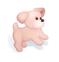 Plush puppy vector