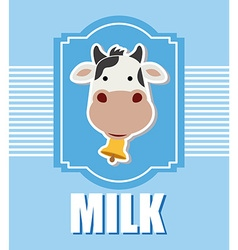 Fresh milk design vector