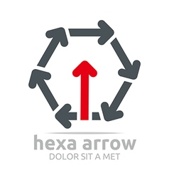 Logo hexa arrow design element symbol icon vector