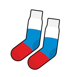 Socks patriot of russia clothing accessory russian vector