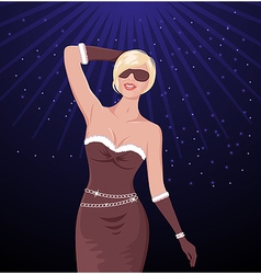 Disco party girl vector