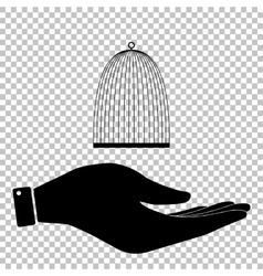 Bird cage sign vector