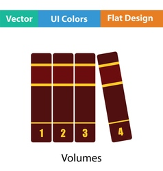 Books volumes icon vector