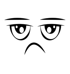 Sad face emoticon isolated icon design vector
